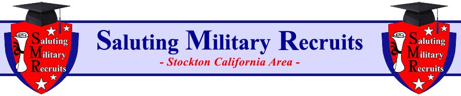 Saluting Military Recruits (SMR) San Francisco Bay Area Logo. (c) Copyright 2013. Michael L. Emerson. All rights reserved.
